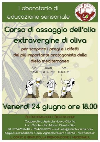 Olio extravergine d'oliva: educazione sensoriale