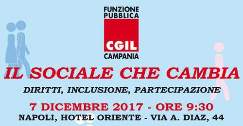 CGIL Funzione Pubblica Campania. Tavola rotonda: 'Il sociale che cambia'