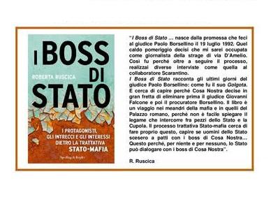Gruppo Gesco. 'I BOSS DI STATO': nuovi squarci sulla trattiva stato-mafia