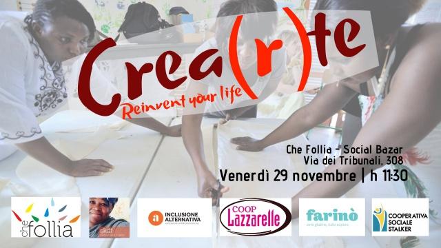 'Che Follia – Social Bazar'. CREA(R)TE. Reinvent your life