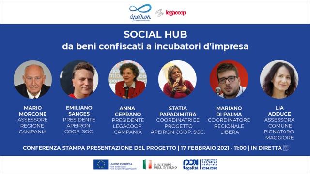 Cooperativa Apeiron. Presentazione Social Hub da beni confiscati a incubatori d'impresa